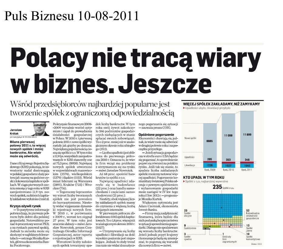 coig nowi inwestorzy w Polsce w 2012 r.