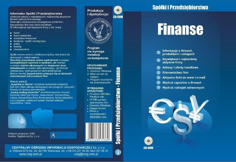 baza danych finanse