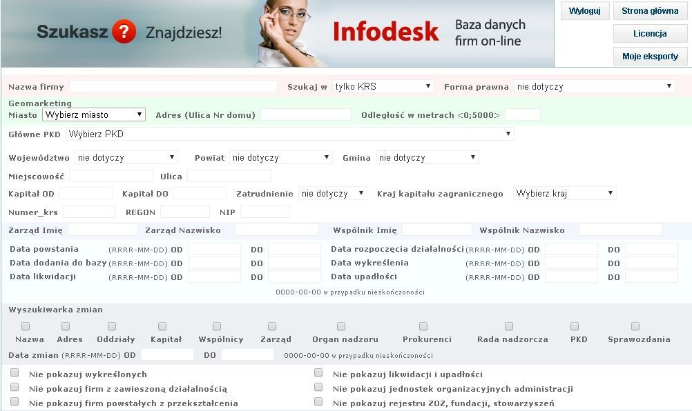 Infodesk marketing wyszukiwarka firm