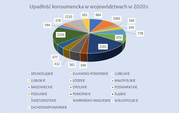upadłość konsumencka w województwach grudzień 2020 r.